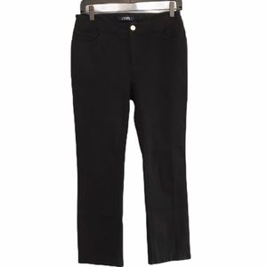 Black Chaps cropped ankle denim jeans size 4